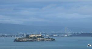 Ilha de Alcatraz em San Francisco Bay 4K filme