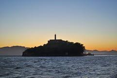 Ilha de Alcatraz, San Francisco, Califórnia, Estados Unidos da América, EUA imagens de stock