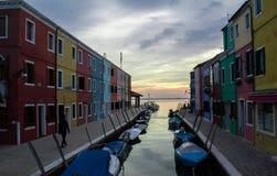 A ilha de Burano, Itália fotografia de stock royalty free