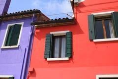 A ilha de Burano, Veneza, Itália imagem de stock royalty free