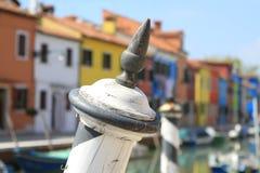 A ilha de Burano, Veneza, Itália Fotografia de Stock Royalty Free