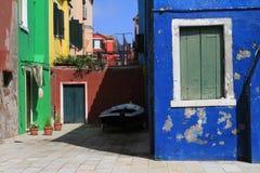 A ilha de Burano, Veneza, Itália imagens de stock