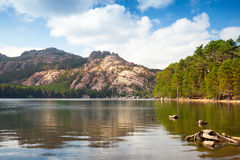 Ilha de Córsega, França, lago L'Ospedale Fotos de Stock Royalty Free