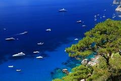 Ilha de Capri imagem de stock