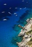 Ilha de Capri fotografia de stock