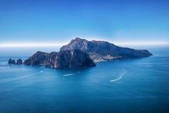 Ilha de Capri da paisagem, Itália Foto de Stock Royalty Free