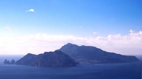 Ilha de Capri da paisagem, Itália Imagens de Stock Royalty Free