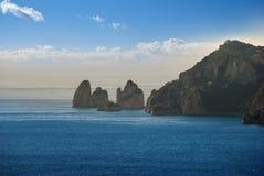 Ilha de Capri da paisagem, Itália Imagens de Stock