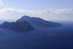 Ilha de Capri da paisagem, Itália Foto de Stock