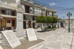 Ilha de Chios, Pyrgi Fotografia de Stock Royalty Free