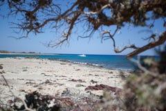 Ilha de Chrissi na Creta, Grécia imagem de stock royalty free