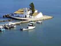 A ilha de Corfu, Grécia Imagens de Stock Royalty Free