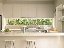 Ilha de cozinha moderna imagem de stock royalty free