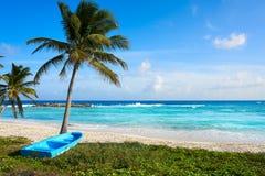 Ilha de Cozumel da praia de Chen Rio em México imagem de stock
