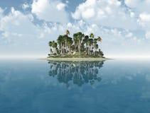 Ilha de deserto Imagens de Stock Royalty Free