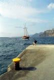 Ilha de Fira Santorini, Grécia Fotografia de Stock