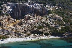 Ilha de Fourni imagem de stock