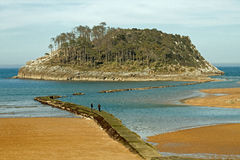 Ilha de Garraitz Imagem de Stock Royalty Free