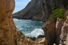 Ilha de Gozo - baía de Xlendi Fotografia de Stock