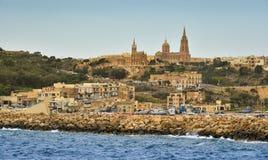 Ilha de Gozo, porto Mgarr, Malta fotos de stock
