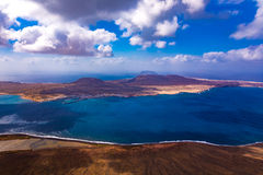 Ilha de Graciosa do La Fotografia de Stock