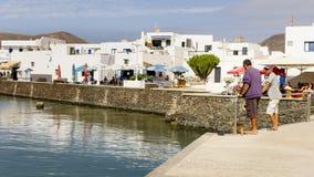 Ilha de Graciosa, Espanha, vista urbana. Fotografia de Stock Royalty Free