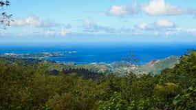 Ilha de Granada - Anse grande e os diabos latem - parque nacional grande de Etang Fotos de Stock Royalty Free
