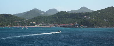 Ilha de Gustavia St Barthelemy, das caraíbas Fotografia de Stock Royalty Free