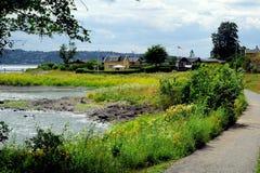 Ilha de Hovedoya perto de Oslo, Noruega imagens de stock