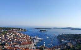 Ilha de Hvar na Croácia imagem de stock