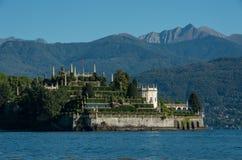 Ilha de Isola Bella no lago Maggiore, ilhas de Borromean, Stresa P imagens de stock