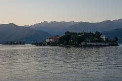 Ilha de Isola Bella no lago Maggiore, ilhas de Borromean, Stresa Piedmont Itália fotografia de stock