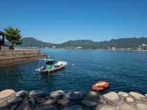 Ilha de Itsukushima, Jap?o imagens de stock
