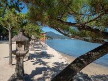 Ilha de Itsukushima, Jap?o imagem de stock