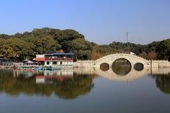 Ilha de Junshan na área do lago Dongting imagens de stock