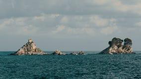 Ilha de Katich no mar de adriático vídeos de arquivo