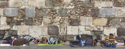 Ilha de Kos, Grécia - crise europeia do refugiado Imagens de Stock Royalty Free