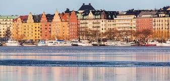 Ilha de Kungsholmen em Éstocolmo imagens de stock