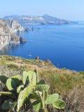 Ilha de Lipari, Sicília, Itália Fotografia de Stock Royalty Free