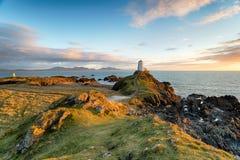 Ilha de Llanddyn em Anglesey Fotografia de Stock Royalty Free