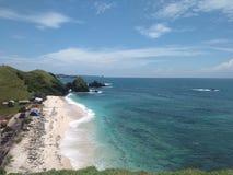 Ilha de Lombok da praia de Seger imagens de stock