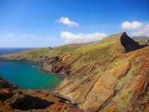 Ilha de Madeira, fuga de caminhada litoral foto de stock