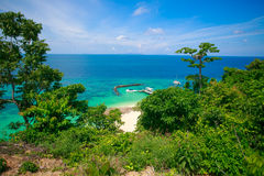 Ilha de MaiTon da vista superior Fotografia de Stock