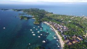 Ilha de Malapascua Administrativamente, é parte do barangay peninsular do fazer logon, Daanbantayan, Cebu vídeos de arquivo