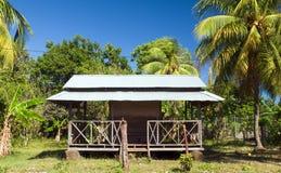 Ilha de milho grande Nicarágua do telhado do metal do restaurante fotos de stock royalty free