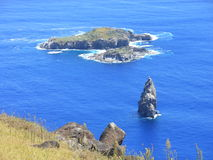 Ilha de Moto Nui, ilha oriental, o Chile Fotografia de Stock Royalty Free