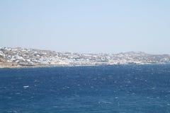 Ilha de Mykonos em Grécia Foto de Stock