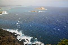 Ilha de Nana do  de MÄ, Oahu imagem de stock