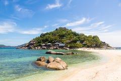 Ilha de Nang Yuan perto de Koh Tao em Tailândia Imagem de Stock