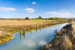 Ilha de Newtown Harbour National Nature Reserve do Wight Inglaterra Imagens de Stock